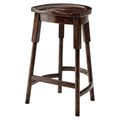 Rustic Provincial Wooden Bar Stool