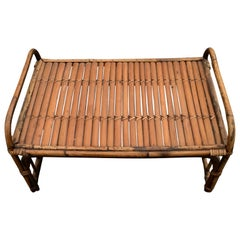 Rustic Rattan Bed Tray