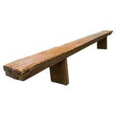Rustic Reclaimed Hardwood Bench