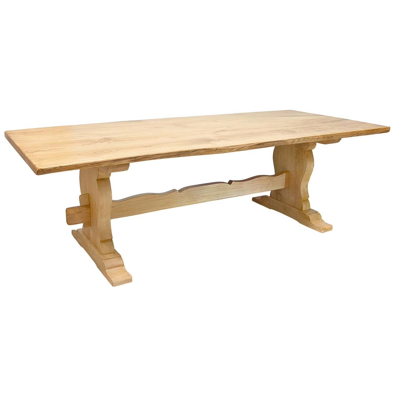 Rustic Rectangular Chestnut Dining Table