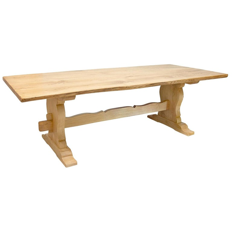 Rustic Rectangular Chestnut Dining Table For Sale