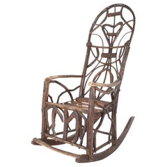 Rustic Rocking Chair Attributed to Rev. Ben Davis of Blowing Rock, NC