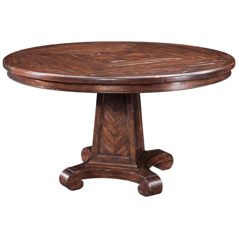 Rustic Round Dining Table For Sale