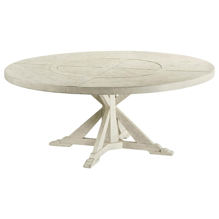 Rustic Round Dining Table Whitewash At, Whitewashed Round Dining Table