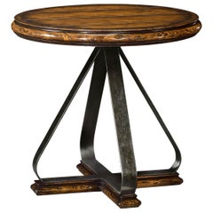 Rustic Round Walnut Side Table