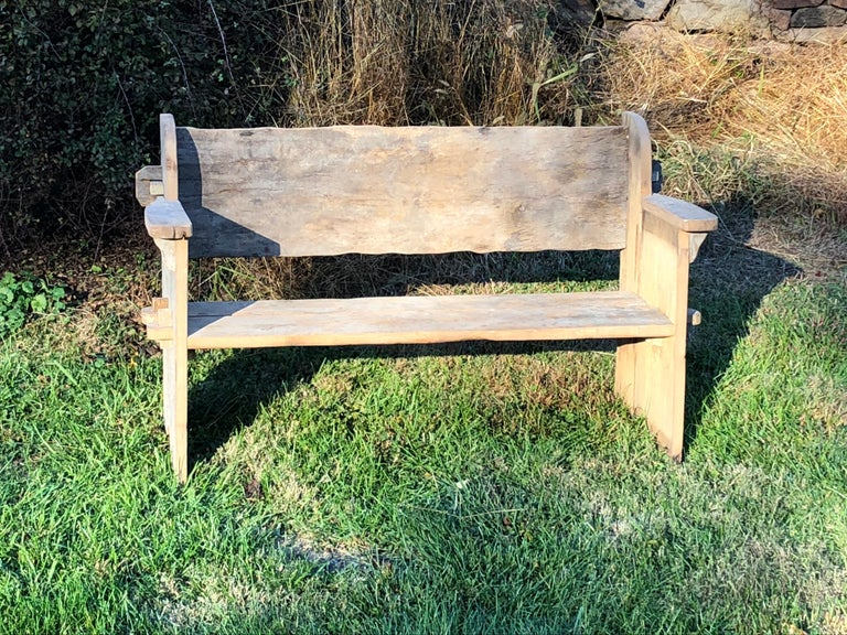 Rustic Scottish Style Garden Bench For Sale 5