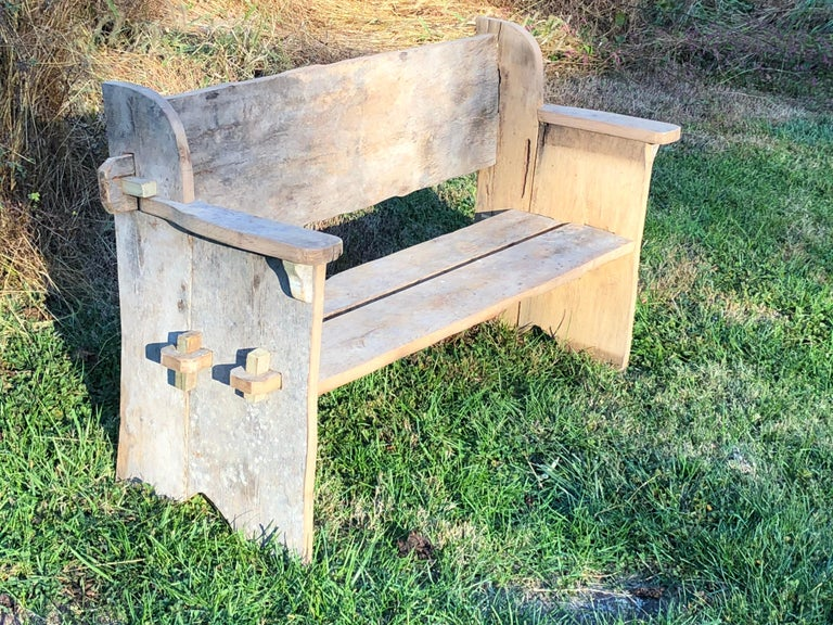 Rustic Scottish Style Garden Bench For Sale 6