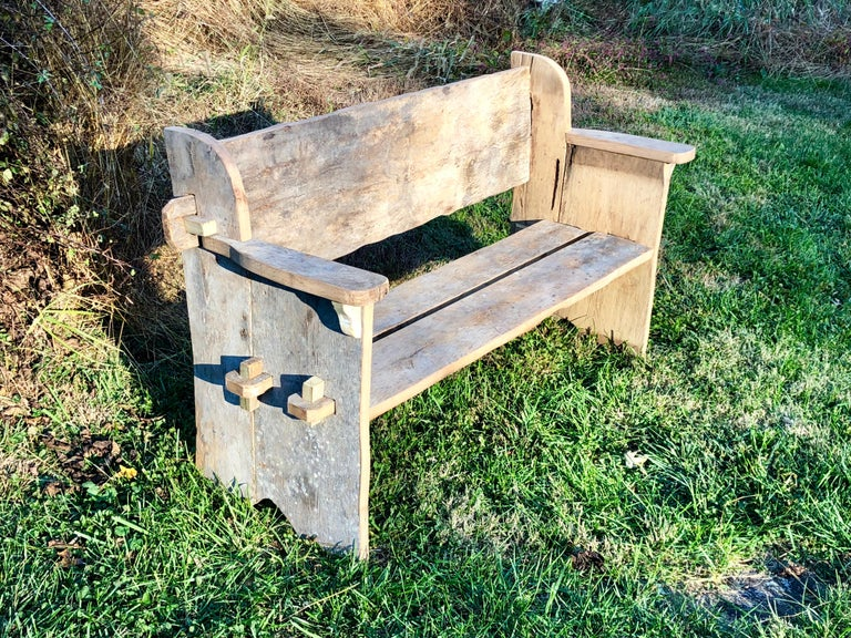 Rustic Scottish Style Garden Bench For Sale 8