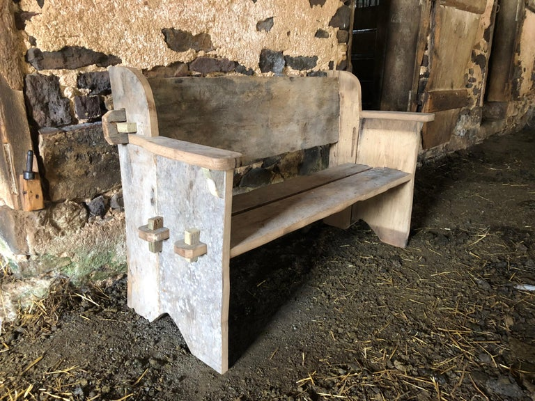 Rustic Scottish Style Garden Bench For Sale 11