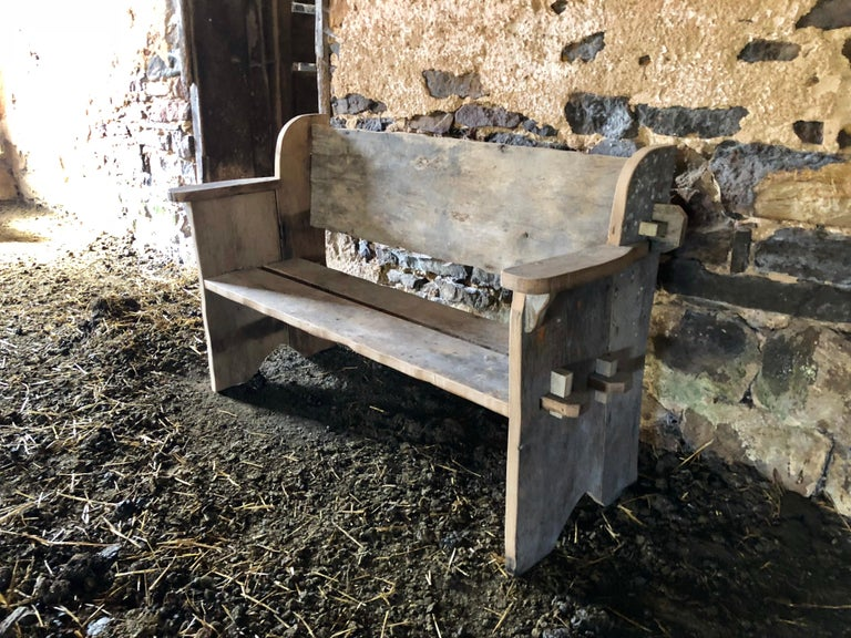 Rustic Scottish Style Garden Bench For Sale 12