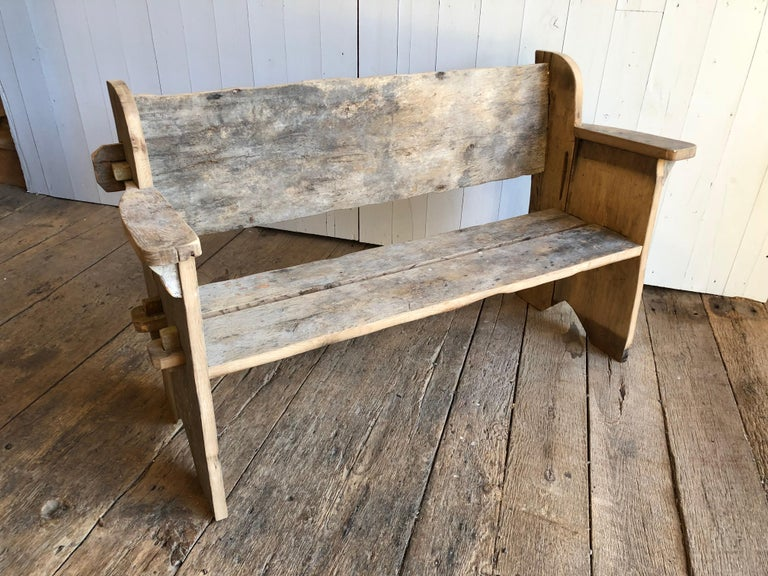 American Rustic Scottish Style Garden Bench For Sale