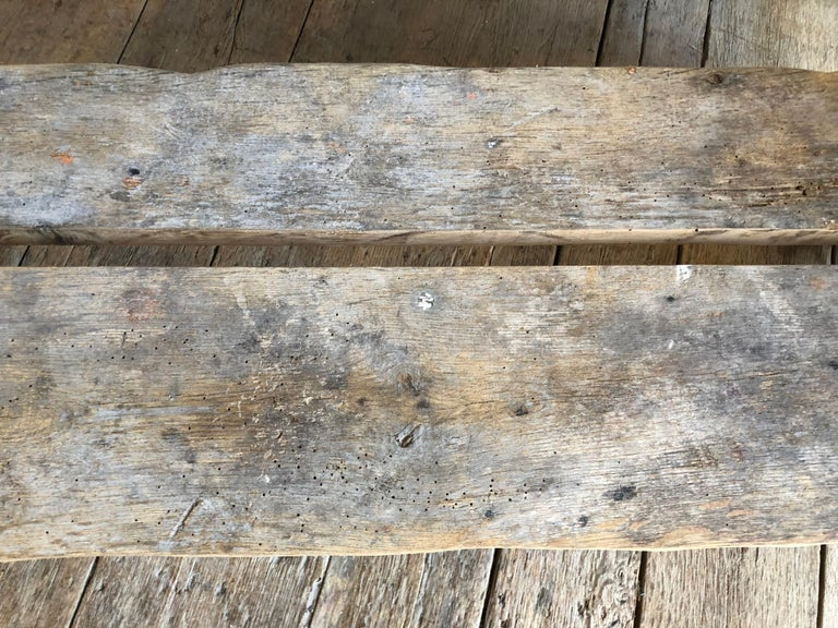 Contemporary Rustic Scottish Style Garden Bench For Sale