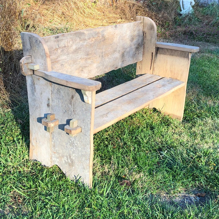 Rustic Scottish Style Garden Bench For Sale 2