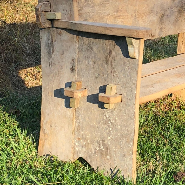 Rustic Scottish Style Garden Bench For Sale 3