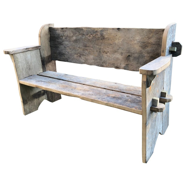 Rustic Scottish Style Garden Bench For Sale