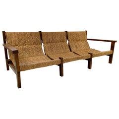 Rustic Sofa, circa 1970, Spain