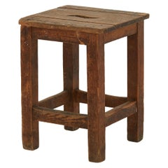 Rustic Spanish Wooden Stool