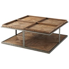 Rustic Square Coffee Table