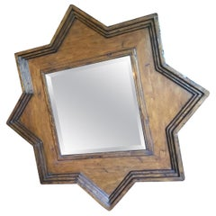 Rustic Star Shaped Rustic Frame with Square Shaped Beveled Mirror