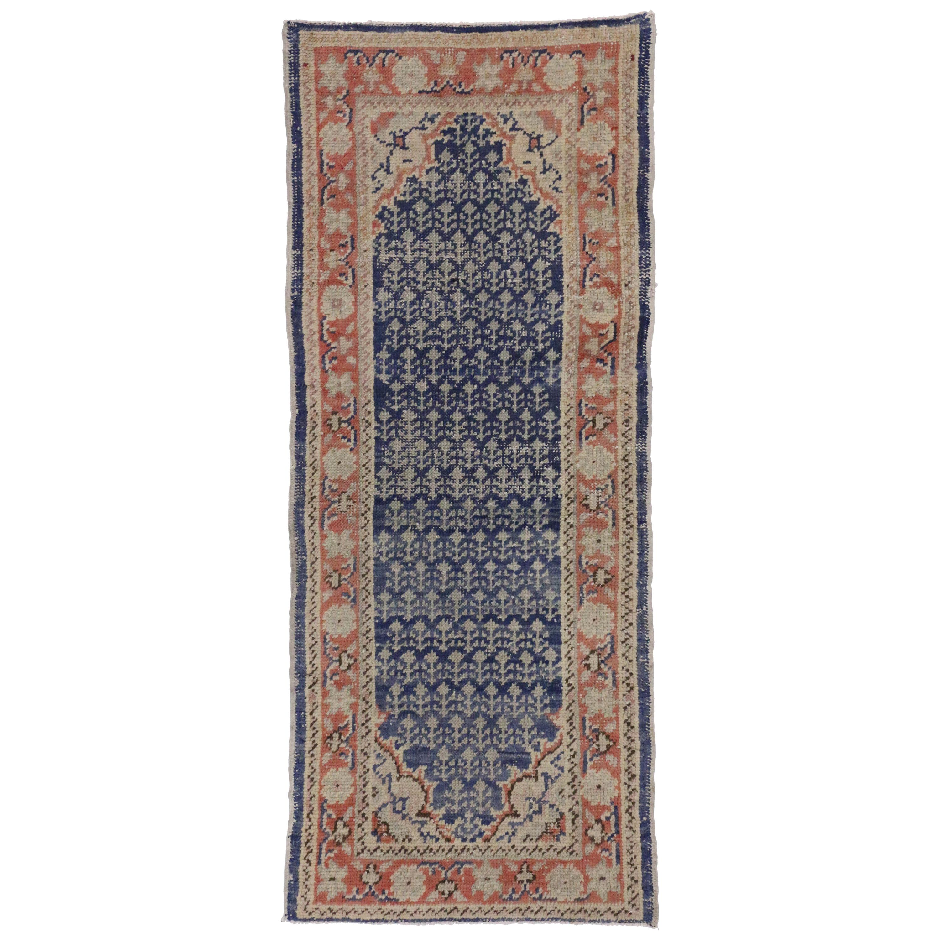Rustic Style Distressed Turkish Sivas Accent Rug