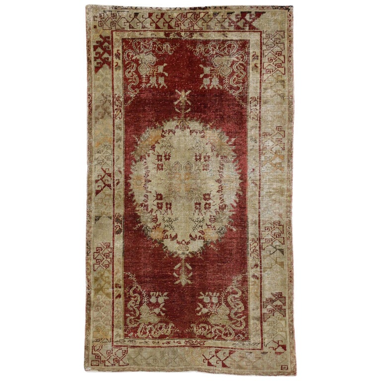 Foyer Rugs Sale : Rustic style distressed vintage turkish oushak rug