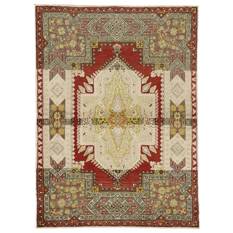 Foyer Rugs Sale : Rustic style vintage turkish oushak accent rug entry or