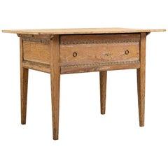 Rustic Swedish Neoclassic Side Table