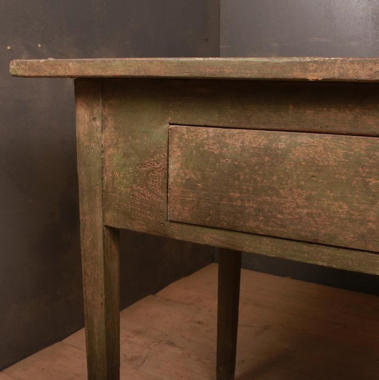 Rustic Swedish Side Table In Good Condition For Sale In Leamington Spa, Warwickshire