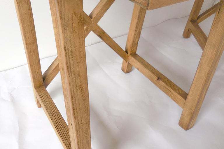 Contemporary Rustic Tables with Drawer For Sale
