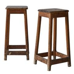 Rustic Tall Pedestal Stool