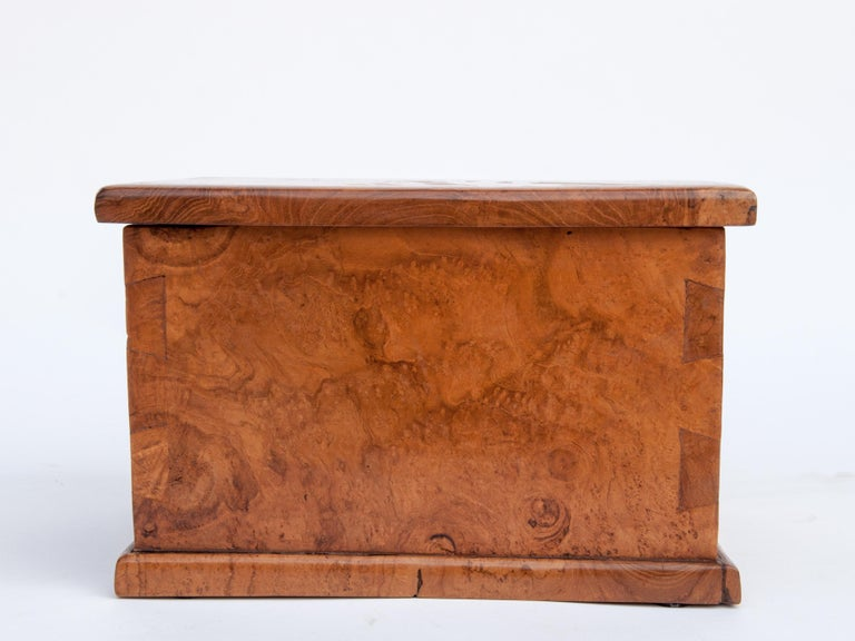 Rustic teak Burlwood box 11.75 x 8.5 x 8.5 inches tall. Java, late 20th century.