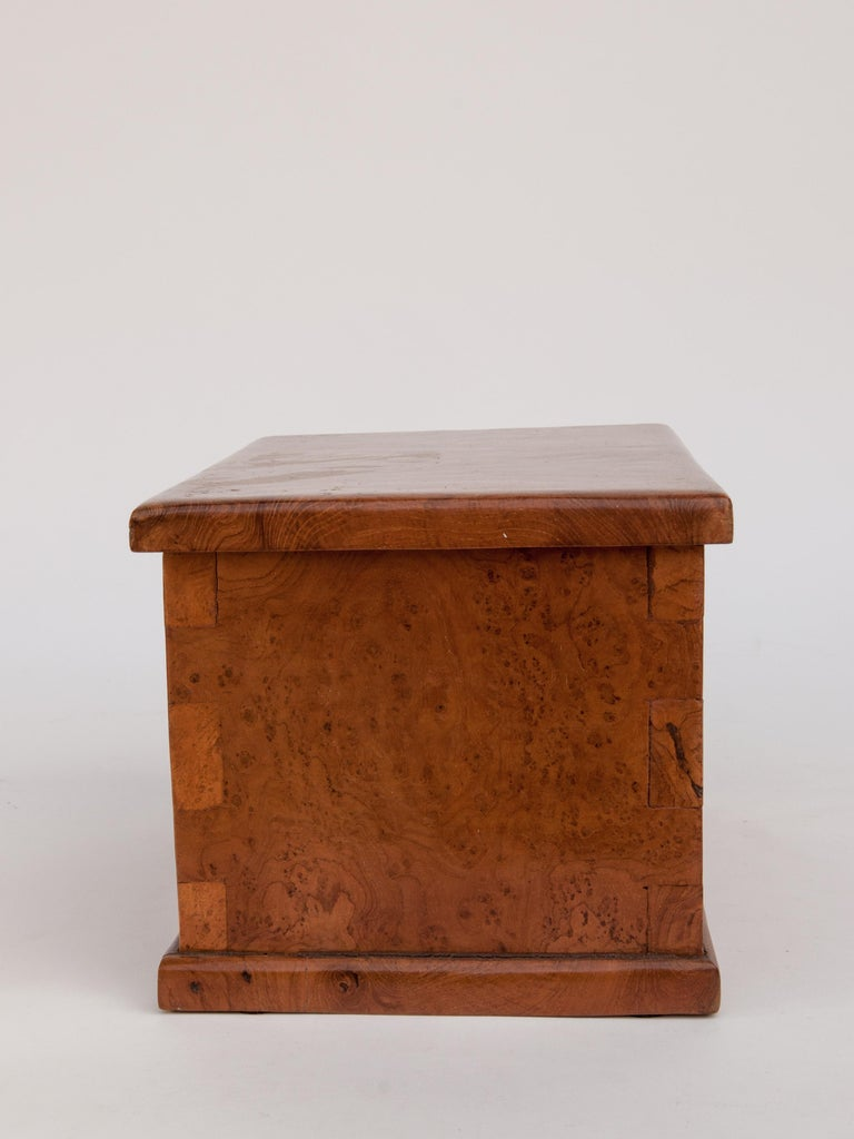 Rustic Teak Burlwood Box, Java, Late 20th Century In Good Condition For Sale In Point Richmond, CA