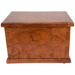Rustic Teak Burlwood Box, Java, Late 20th Century