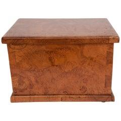 Rustic Teak Burlwood Box, Java, Late 20th Century