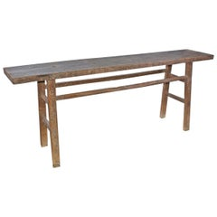Rustic Teak Console Table