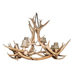 Rustic Tiered Eight Light Antler Chandelier