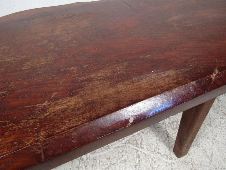 Rustic Tree-Slab Coffee Table For Sale 2