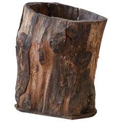 Rustic Tree Trunk Barrel