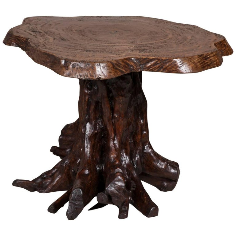 Rustic Tree Trunk Table For Sale At 1stdibs