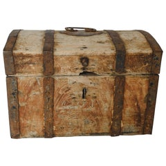 Rustic Trunk with Metal Strapping
