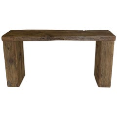 Rustic Waterfall Console
