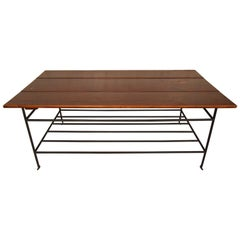 Rustic Wood and Iron Coffee Table