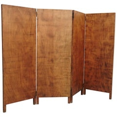 Rustic Wood Room Divider, circa 1930
