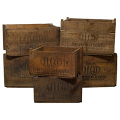 Rustic Wooden Boxes, circa 1940