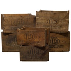 Rustic Wooden Boxes, circa 1940