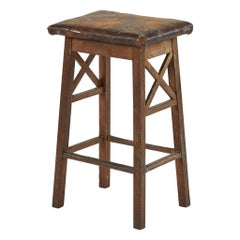 Rustic Wooden Stool