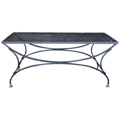 Rustic Wrought Mesh Coffee Table by Russell Woodard Company