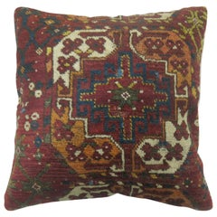 Rusty Brown Tribal Ersari Rug Pillow