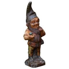 Rusty Vintage Garden Gnome