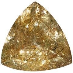 Rutellated Quartz Trillion Collectors Stone